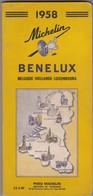 1958 MICHELIN GUIDE - BENELUX - BELGIQUE - HOLLAND - LUXEMBOURG - Cartes Routières