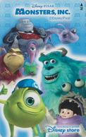 Télécarte NEUVE Japon / MF-1000852 - DISNEY STORE - MONSTERS - Japan MINT Cinema Movie Phonecard - Disney