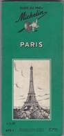 1959 MICHELIN GUIDE - PARIS - FRANCE - Cartes Routières