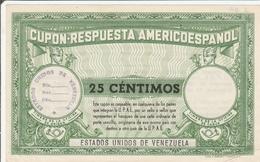 Cupon Respuesta Americoespanol 25 Centimos Venezuela - Coupon-réponse CRI IRC IAS - Venezuela