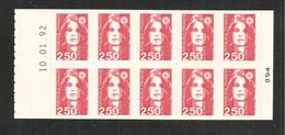 France, 2720-C1, Daté, Carnet Neuf **, Non Plié, TTB, Alberville 92, Carnet Marianne De Briat - Carnets