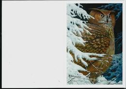 Carte De Voeux  2010 (Hibou Grand-Duc) - 1985-.. Oiseaux (Buzin)