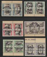 TÁNGER - BENEFICENCIA. Edifil Nsº 35/40 En Bloques De 4 Usados - 1931-Aujourd'hui: II. République - ....Juan Carlos I