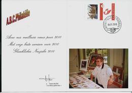 Carte De Voeux  2010 (Hibou Grand-Duc) + Duostamp En Rapport Obl. Du 04/01/2010 - 1985-.. Oiseaux (Buzin)