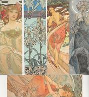5 MARQUE- PAGES- ALPHONSE MUCHA -  MUSEE DU LUXEMBOURG -2018 - Marque-Pages