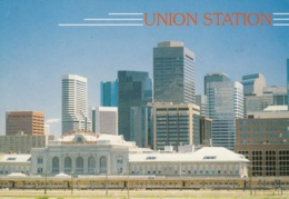 Old Union Station And The New Denver Skyline.Colorado, Ungelaufen - Stations With Trains