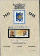 Carte De Voeux 2002  + Duostamp Dans Bande Hawid (photo De A. Buzin + N° 2996 - 1985-.. Oiseaux (Buzin)
