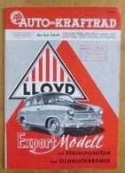 Magazine Auto Kraftrad   Lloyd,  6.Jahrgang/ Nummer 8,  1953  ♥ - Non Classés