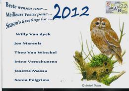 Carte De Voeux 2012 - 1985-.. Oiseaux (Buzin)