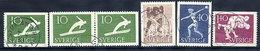 SWEDEN 1953 Sports Union Complete Used.  Michel 379-82 + 379Dl/Dr - Sweden