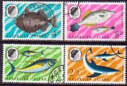 1968 ASCENSION SG #113-116 Compl.set Used Fish (1st Series) - Ascension (Ile De L')
