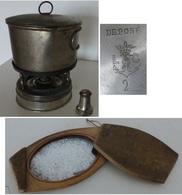 Réchaud + Miroir Portatif De Poilu Guerre 1914 1918, No Casque Adrian - 1914-18