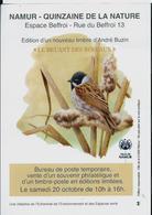 Flyers NAMUR - 15° De La Nature    Le Bruant Des Roseaux - 1985-.. Oiseaux (Buzin)