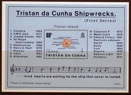 Tristan Da Cunha 1985 Mini Sheet Commemorating Shipwrecks 1st Series. - Tristan Da Cunha