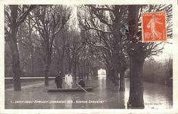 91 1 SOISY SOUS ETIOLLES Inondation 1910 Avenue Chevalier - France