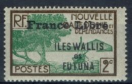 "Wallis And Futuna,  New Caledonia Overprint ""France Libre"", 2c., 1941, MH VF - Wallis And Futuna"