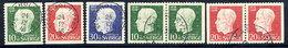 SWEDEN 1948 90th Birthday Of Gustav V Complete Used.  Michel 343-45A + 343-44 Dl/Dr - Sweden
