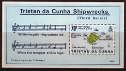 Tristan Da Cunha 1987 Mini Sheet Commemorating Shipwrecks 3rd Series. - Tristan Da Cunha