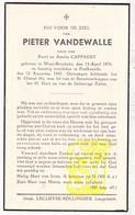 DP Pieter VandeWalle / Cappaert ° Westrozebeke Staden 1876 † Poelkapelle 1947 - Images Religieuses