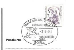 ALLEMAGNE DEUTSCHLAND BUND GERMANY ARCHEOLOGIE ARCHAEOLOGEN ARCHAOLOGISCHE KULTUR RODENBERG 3054 1990 Lion Ailé Leuwe - Archeologie
