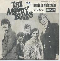 "45 Tours SP - THE MOODY BLUES - DERAM 17007  "" NIGHTS IN WHITE SATIN "" + 1 - Vinyles"
