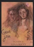 Pub Papier 1947 NINA RICCI Parfum Romantique Coeur Joie Dessin Femme Illustrateur Bérard - Advertising