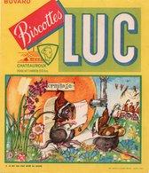 Buvards, Protège-cahiers Illustrés > Biscottes LUC Le Rat Qui S Est Retiré Du Monde - Biscottes