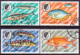 1970 ASCENSION SG #126-29 Compl.set Used Fish(3rd Series) - Ascension (Ile De L')