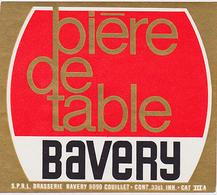 Br. Bavery (Couillet) - Bière De Table Bavery - Bière