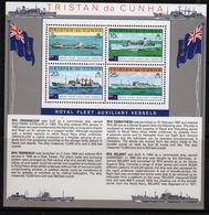 Tristan Da Cunha 1978 Mini Sheet Commemorating Royal Fleet Auxiliary Vessels. - Tristan Da Cunha