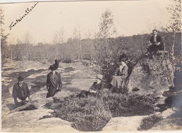Photo Anonyme Vintage Snapshot Fontainebleau Groupe Bourgeois - Orte