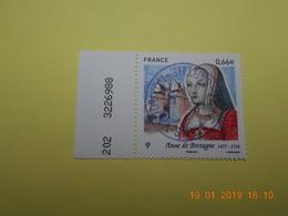 FRANCE 2014   YTN° 4834  ANNE DE BRETAGNE (1477-1514)  TN Oblitéré   Numéroté - France