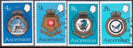 1970 ASCENSION SG #130-34 Compl.set+m/s Used Royal Naval Crests (2nd Series) - Ascension (Ile De L')