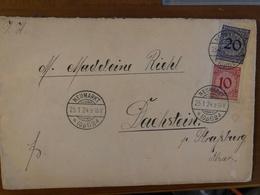 Lettre De Neumarkt Pour Dachstein En Alsace 1924 Timbre N°333 Et 334 - Lettres & Documents