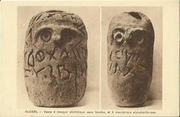 CPA De GLOZEL - Vases à Masque Néolithique Sans Bouche, Et à Inscriptions Alphabétiformes. - France