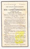 DP Remi VandenDriessche ° Westrozebeke Staden 1890 † Poelkapelle 1941 X Madeleine DeSpeghel - Images Religieuses