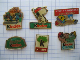 KINDER  Lot De 6 Pin's - Pin's