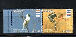 PARAGUAY- ISRAEL, 2016, BIRDS, 2v. MNH** - Birds