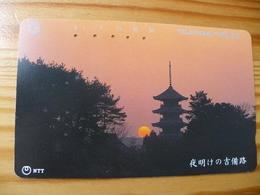 Phonecard Japan 350-158 Sunset - Japan