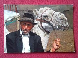 SPAIN TARJETA POSTAL CARTE POSTALE POST CARD ISLAS CANARIAS CANARY ISLANDS LANZAROTE LANZAROTEÑO Y CAMELLO MAN CAMEL VER - Lanzarote