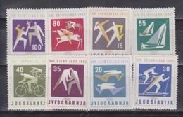 Yugoslavija, Olympic 1960, 8 Stamps - Ete 1960: Rome