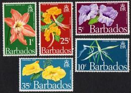 Barbados. 1970 Flowers Of Barbados. SG 419-423. MNH - Barbades (1966-...)