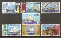 Koweït 1970 -  Kuwait - Vaisseaux Anciens - Série Complète° - Sc 481/7 - Boutre, Dhow - Koweït