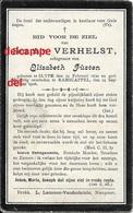 DOODSPRENTJE Seraphin Verhelst Slijpe 1860 En Overleden Te Ramskapelle 1908 Fusten Elisabet - Images Religieuses