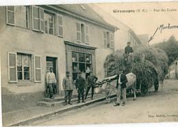 90 - Giromagny : Rue Des Ecoles ' Attelage De Boeufs BP ) - Giromagny