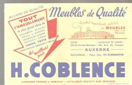 Buvard H. COBLENCE Meubles De Qualité à Auxerrre Et Saint Florentin - Buvards, Protège-cahiers Illustrés