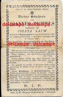 DOODSPRENTJE Joannes Michiels Ramskapelle 1814 En Overleden 1890 Lauw Coleta Nieuwpoort - Images Religieuses