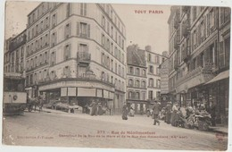 CPA 75 PARIS XX Rue De Ménilmontant à A Rue Des Amandiers Série Tout Paris N° 373 - District 20