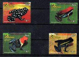 PERU, 2016 ,FROGS, 4v. MNH** - Frogs