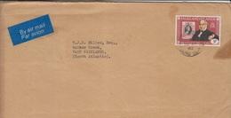 Falklands Airmail Cover, Stamps, Black Penny  (A-1192) - Falkland